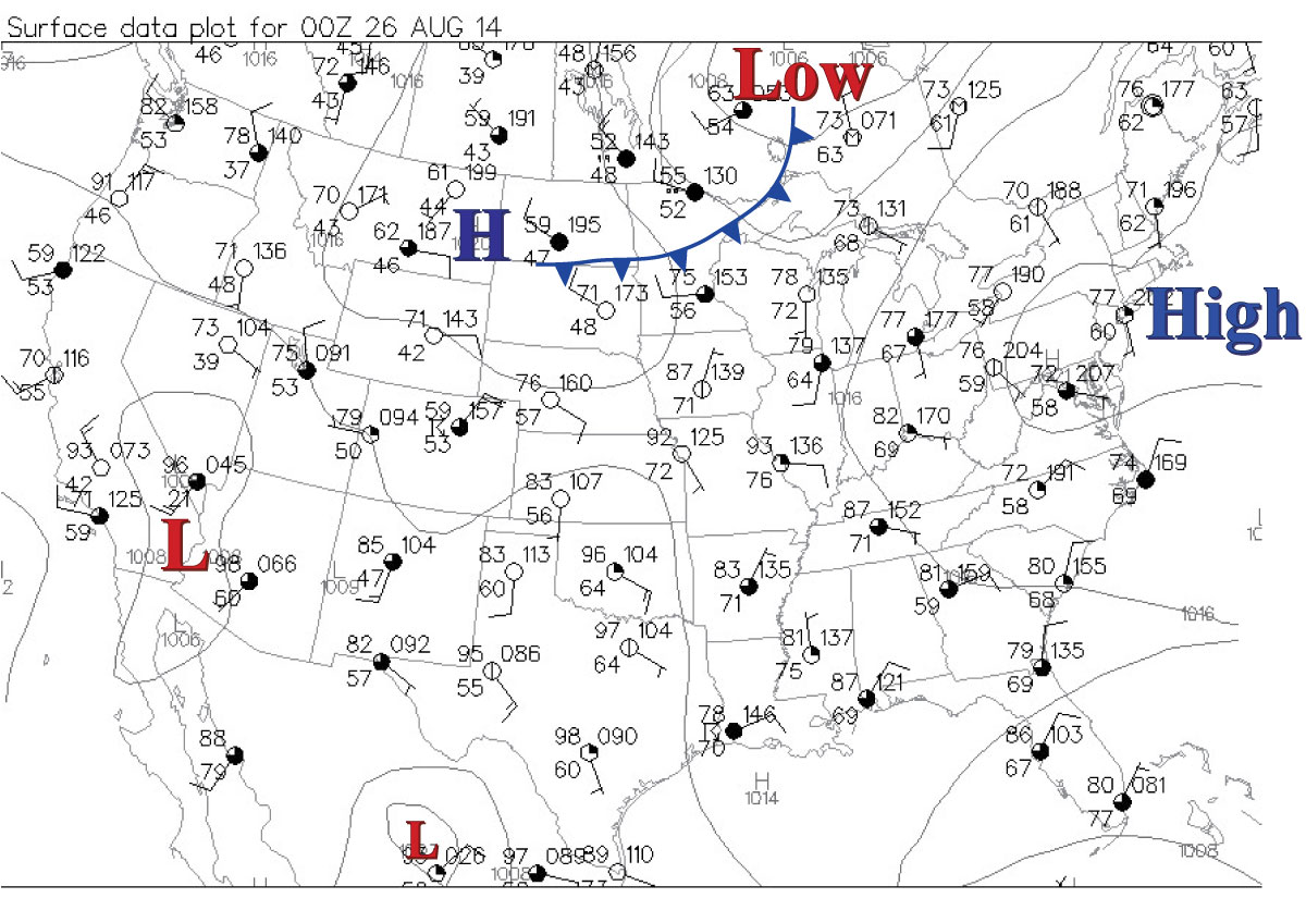 Past Links For Metr  Fall - Us weather map with jet stream